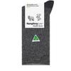 Humphrey Law Wool/Bamboo Sock Grey/Black
