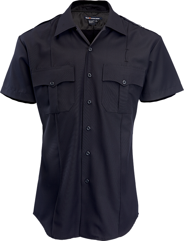 0c7add012 5.11 NYPD Navy Short Sleeve Women's Shirt - Meyers Uniforms