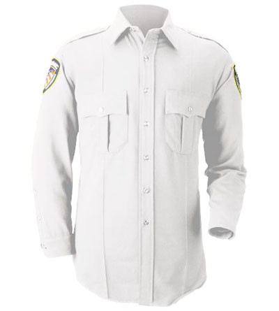 63793042d White Long Sleeve Uniform Shirt. Image 1. Loading zoom