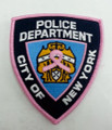 Pink NYPD Shoulder Patch