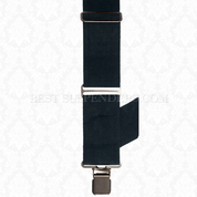 Side Clip Suspenders Navy Blue