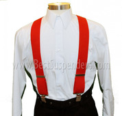 Work Suspenders Red
