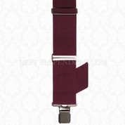 Side Clip Suspenders Burgundy