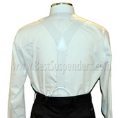 Windsor Y Back Button-On White
