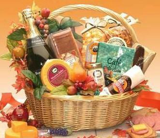 Thanksgiving Gourmet Snack Foods Basket