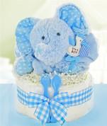 Elephant Baby Diaper Cake 1 Layer