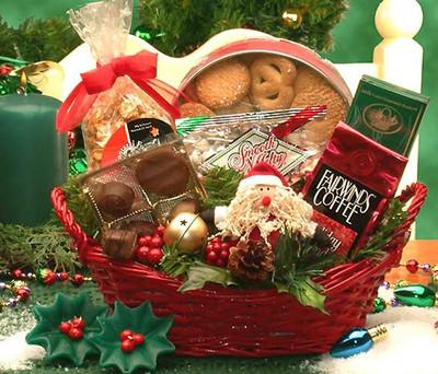 Cheerful Holiday Gift Basket