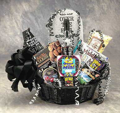 Medium Over The Hill Birthday Gift Basket Large Size Shown