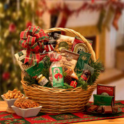 Holiday Celebrate Christmas Gift Basket Small