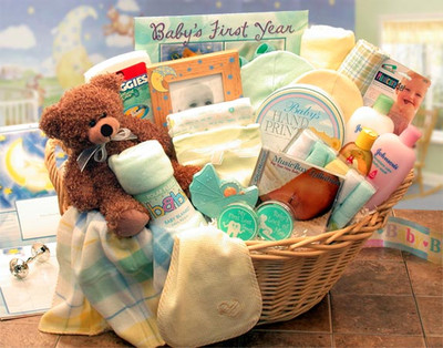 Deluxe Welcome Baby Gift Basket