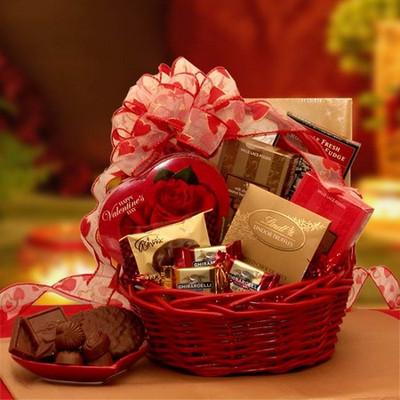 Valentine Inspiration Gift Basket for Valentine's Day
