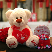 Chocolate Love Valentine Gift with bear