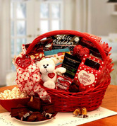 Sugar Free Valentine Red Gift Basket with bear