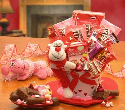 Valentine Monkey Pail Gift