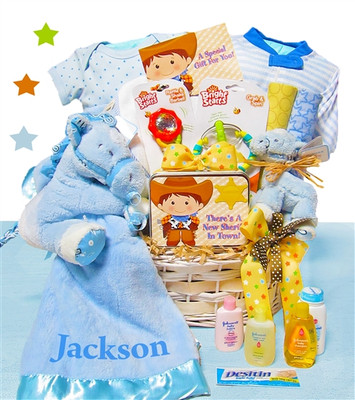 Western Play Baby Gift Basket Boy