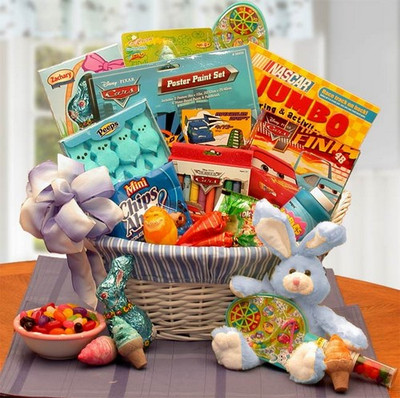 Boys Activity And Treats Easter Gift Basket