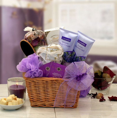 Womens Lavender Glory Spa Gift Basket