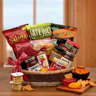 Spicy Snacks Gift Basket for Father