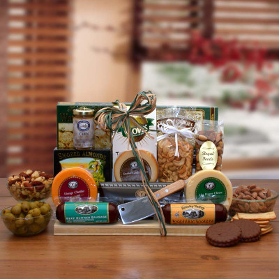 Deluxe Meat and Cheese Snack Gift