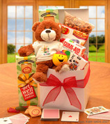 Get Well Teddy Bear Kids Care Gift Box