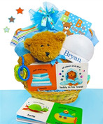 Welcome New Baby Gift Basket Boy