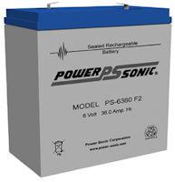 6 Volt 36.0AH SLA Battery