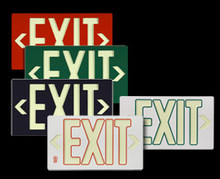 Photo-luminescent exit sign