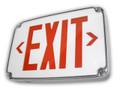 L-WLEZXTEU-EM - Wet Location LED Exit, Red/Battery Backup