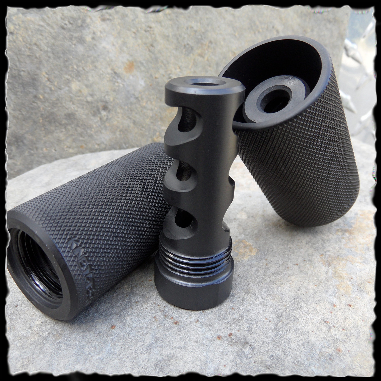 Kineti-Tech Muzzle Brake with Concussion/Redirector Sleeve