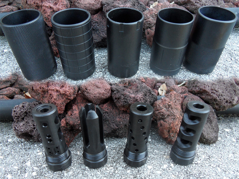 Create a 2 Piece Muzzle Brake with Cucussion/Redirector Sleeve
