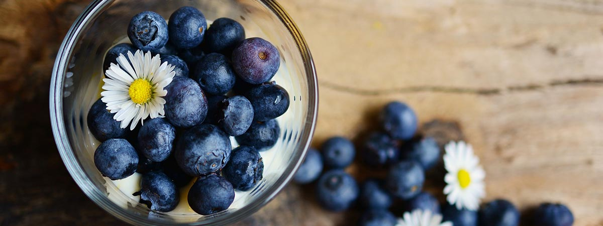 Blueberries in Glass Image