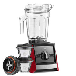 Vitamix Ascent 2300i Series Blender In Red with 225ml Blending Bowl Starter Kit