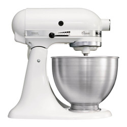 KitchenAid 4.3L Classic Stand Mixer in White
