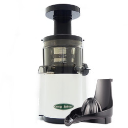 Omega VERT VSJ843RW Slow Juicer in White with Citrus Attachment