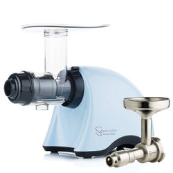 Omega Sana EUJ-707PB Juicer in Pastel Blue with Oil Extractor