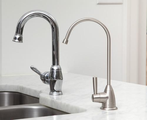 aquasana aq4601 premium under sink water filter system brushed nickel - Under Sink Water Filter