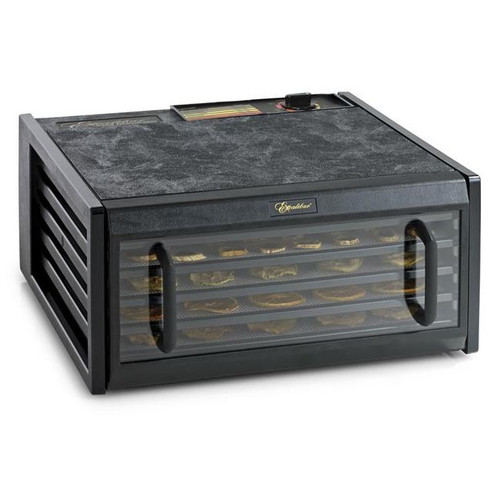 Excalibur 5 Tray Dehydrator Black Clear Door
