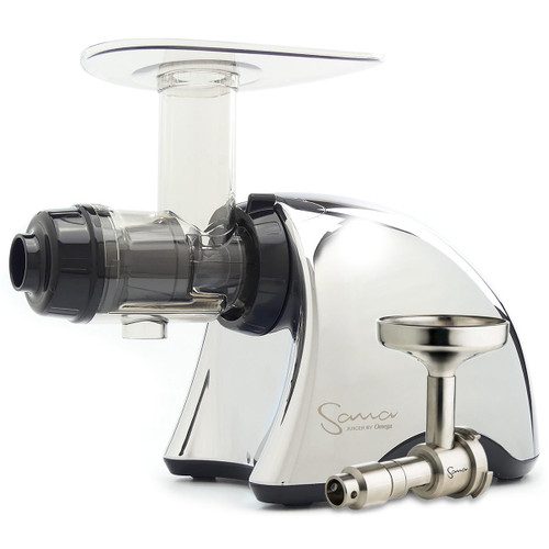 Omega Sana EUJ-707C Juicer in Chrome with Oil Extractor