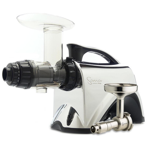 Omega Sana EUJ-606CH Juicer in Chrome with Oil Extractor
