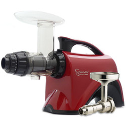 Omega Sana EUJ-606R Juicer in Red with Oil Extractor