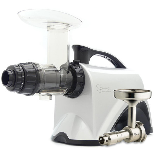 Omega Sana EUJ-606S Juicer in Silver with Oil Extractor