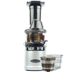 Omega MMV702S Mega Mouth Slow Juicer With Accessories in Silver