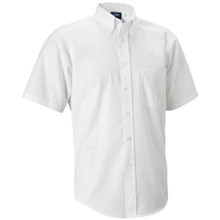 SSM White Oxford Shirt w/ Silk Screen Logo