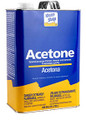 Acetone   5 Gallon This strong, fast-acting solvent is a thinner and remover for specified coatings, including polyester and epoxy resins, ink, adhesives and contact cement. Acetone is an effective cleanup solvent after the completion of a fiberglass project, for removal of excess fiberglass resin or foreign material from solvent-tolerant surfaces.