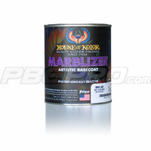 Marblizer Artistic Bases offer you an exciting paint finish. With Marblizer you can achieve the appearance of a deep marble, snake skin, plus many other effects. Marblizer is a Universal Base that can be simply cleared over or be used as a base coat for Kandy. They can be cleared with acrylic lacquers or urethane enamels. IMPORTANT: SG100 is required if applying urethane clears or urethane kandys over Marblizer.