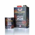 POLYURETHANE ENAMEL KLEAR (UC35) UC-35 is a 3.5 VOC, National Rule and SCAQMD Rule 1151 compliant version of UC-1. It may be used to topcoat any urethane or polyurethane enamels, and any SHIMRIN® Base Coat color. UC35 gives a high-gloss, has excellent weathering and UV resistance. UC35 dries fast and hard, and can be colored sanded and buffed the next day