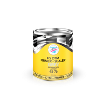 HS DTM Primer-Sealer 2.1 VOC 45-76 (GREY) Automotive Art HS DTM Primer–Sealer 2.1 VOC 45-76 is a versatile low VOC primer; it can be used as a high build primer and a sealer over E-coat, as well as direct to metal primer (DTM). Its high build and fast drying properties make it the perfect foundation for any top coat finish. It can be sprayed wet on wet or sanded, depending on the requirement.   High Build Primer when mixed 4:1     Wet on Wet Primer when mixed 4:1:2     Fast drying Primer Filler when mixed 4:1:1           Easy to sand Short refinish times  Sealer for E-Coat when mixed 4:1:2   Direct to Metal (DTM) Low VOC*