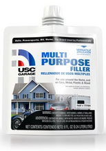 USC® GarageTM Multi-Purpose Filler is a general purpose filler used for repairing everything from wood and cement to metal. Works great for small repairs on cars or around the home