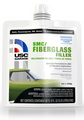 USC® GarageTM SMC/Fiberglass Filler is a waterproof filler, structurally rated to repair sheet molding compound and works on fiberglass. It's also easier to sand than conventional fiberglass fillers.