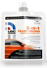 USC® GarageTM 2-In-1 Filler/Finisher is a lightweight filler and glaze combined that allows you to eliminate the glazing putty step. Ideal for scratches, dents and small repairs, 2-In-1 Filler/Finisher is easy to sand and has superior leveling for an excellent finish.